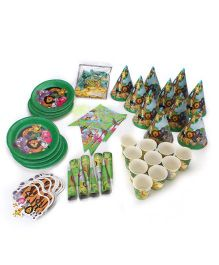Themez Only Jungle Theme Birthday Party Kit Green - Pack Of 7