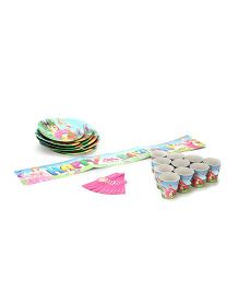 Themez Only Princess Theme Birthday Party Kit Multicolor - Pack Of 4