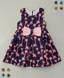 Adores Giraffe Print Trendy Dress - Blue