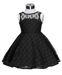 The KidShop Dress With A Lovely Back Pattern - Black