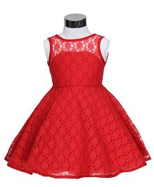The KidShop Dress With A Lovely Back Pattern - Red