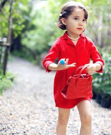 The KidShop Trench Coat Style Dress - Red