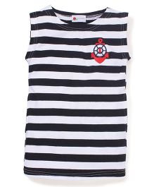 Adores Anchor Print Top  - Black & White