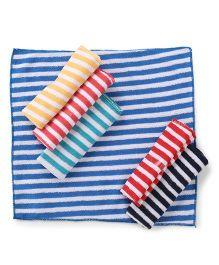 Babyhug Stripes Napkins Multicolor - Pack Of 6