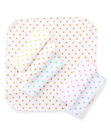 Babyhug Dots Print Napkins Multicolor - Pack Of 6