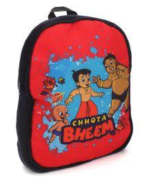 Chhota Bheem School Bag Red Black - 14 Inches