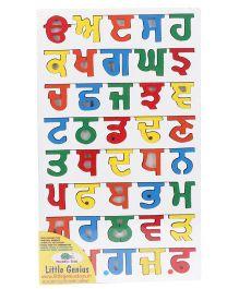 Little Genius Wooden Punjabi Alphabets Puzzle - Multicolour