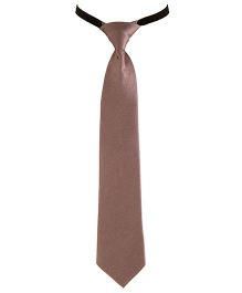 NeedyBee Solid Tie For Kids - Brown