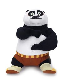 Kung Fu Panda Standing Plush Toy Black White - 10 Inches