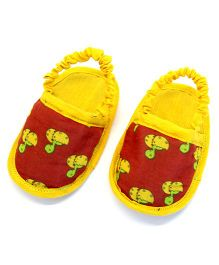 Snugons Printed Baby Slip Ons - Yellow
