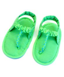 SnugOns Stylish Baby SlipOns - Green