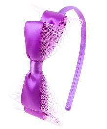 Bunchi Pretty Bow Hair Band - Purple