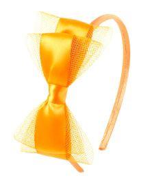 Bunchi Pretty Bow Hair Band - Neon Orange