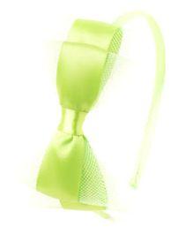 Bunchi Pretty Bow Hair Band - Neon Green