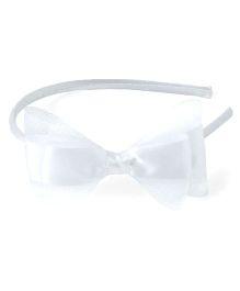 Bunchi Pretty Bow Hair Band - White