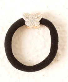 Bunchi Butterfly Crystal Rubber Band - Black