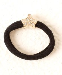 Bunchi Crystal Crown Rubber Band - Black
