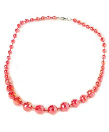 Bunchi Sparkling Beads Necklace - Red