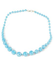Bunchi Sparkling Beads Necklace - Blue