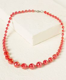 Bunchi Sparkling Beads Necklace - Pink