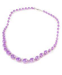 Bunchi Sparkling Beads Necklace - Purple