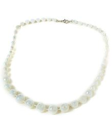 Bunchi Sparkling Beads Necklace - White