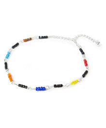 Bunchi Adjustable Beaded Anklet - Multicolour
