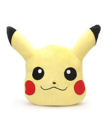 Pokemon Pikachu Face Plush Toy  Yellow - 16 cm