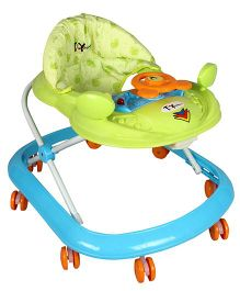 Toyhouse Smiley Musical Baby Walker Blue Green - THBWL 5020B