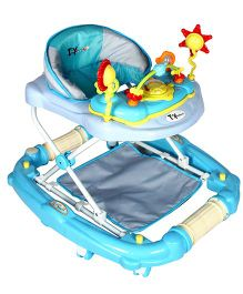 Toyhouse Teddy Baby Walker Cum Rocker Blue - THBWL 6802B