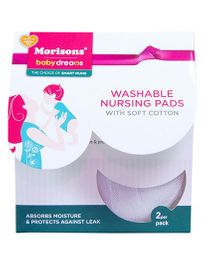 Morisons Baby Dreams Washable Nursing Pads - Pack of 2