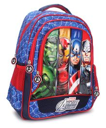Marvel Avengers Group Art Faces School Bag - 16 Inches