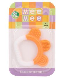 Mee Mee Silicone Teether - White & Orange
