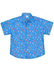 Raghav My Sailor Print Shirt - Sky Blue