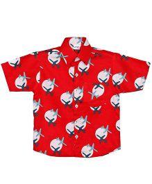 Raghav Flying High Print Shirt - Red