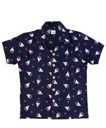 Raghav Ahoy Mate Print Shirt - Dark Blue