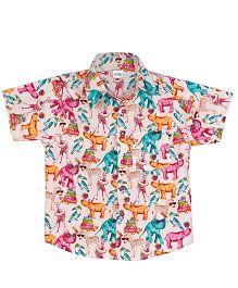 Raghav Whimsical Kingdom Print Shirt - Multicolour