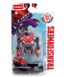 Transformers Funskool Clampdown Action Figure - Red And Black