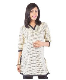 Morph Ethnic Maternity Kurta - Black & Cream