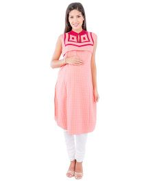 Morph Sleeveless Nursing Kameez - Rouge Pink