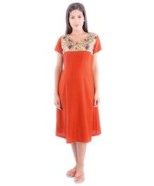 Morph Half Sleeves Feeding Nighty - Brownish Orange