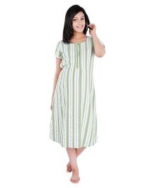 Morph Maternity Sprites Pattern Nighty - Cream & Green