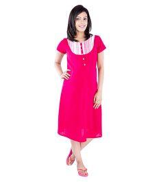 Morph Half Sleeves Nursing Nighty - Pink