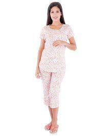 Morph Floral Print Maternity Pyjama Set - Multi Color