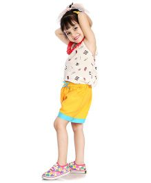 Little Pockets Store Sunshine Summer Shorts - Yellow