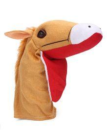 IR Hand Puppet Horse Brown - 34 cm