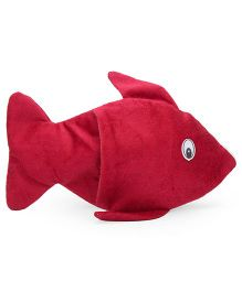 IR Hand Puppet Fish Maroon  - 9 Inches