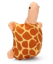 IR Hand Puppet Tortoise Yellow & Brown - 9 Inches
