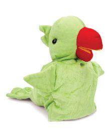 IR Hand Puppet Parrot Green - 22 cm