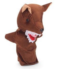 IR Hand Puppet Wolf Brown - 12 Inches